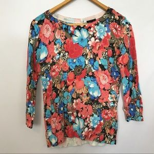 Talbots Floral Print light weight sweater